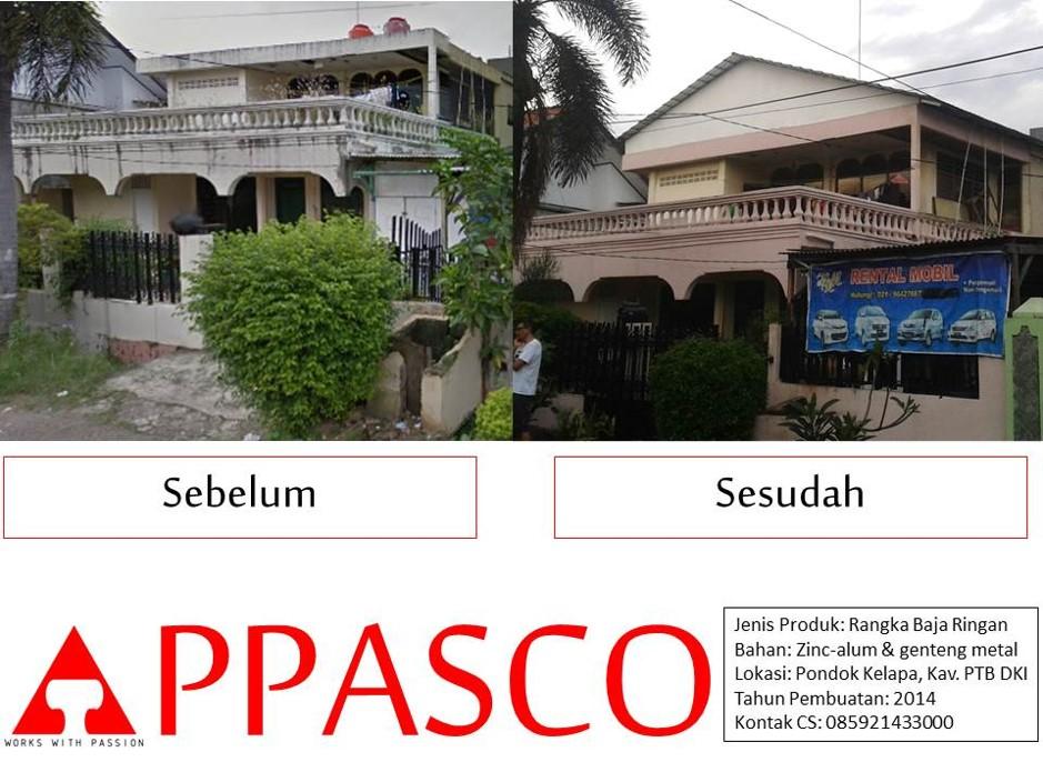 Jasa Pemasangan Atap Rumah Baja Ringan di Pondok Kelapa
