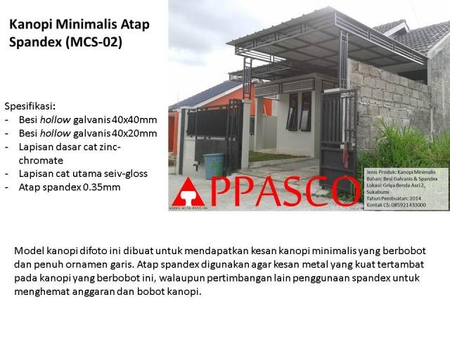 kanopi minimalis atap spandex MCS