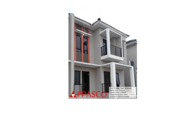 pagar minimalis pada balkon atas rumah