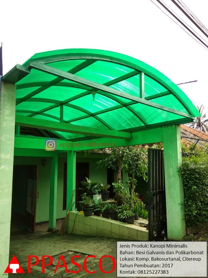 Kanopi Lengkung Atap Polikarbonat Bakosurtanal