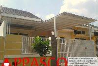 Kanopi Minimalis Spandek di Villa Bogor Indah