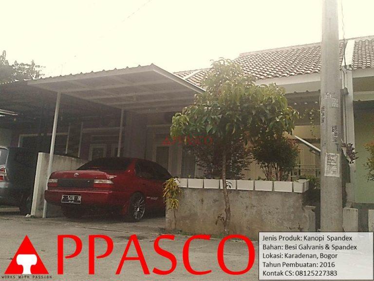 Kanopi Spandek Minimalis Karadenan Bogor