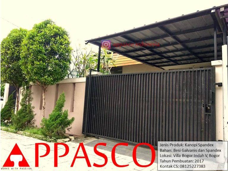 Kanopi Minimalis Villa Bogor Indah