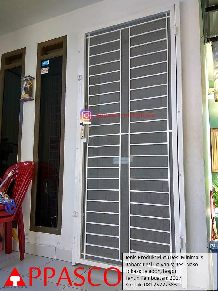Pintu Besi Minimalis Laladon Bogor