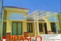 kanopi minimalis atap polikarbonat transparan