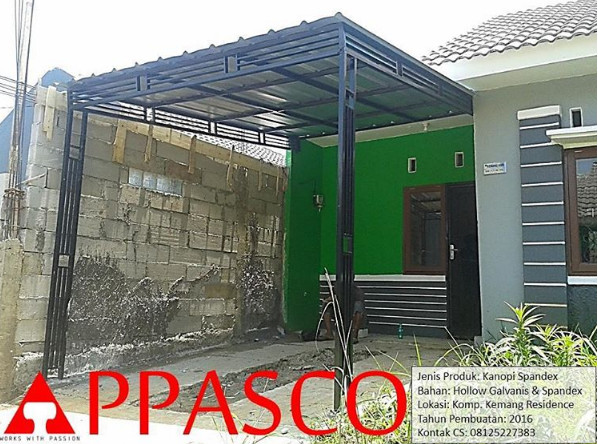 kanopi minimalis atap spandex