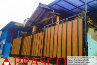 pagar minimalis GRC kayu