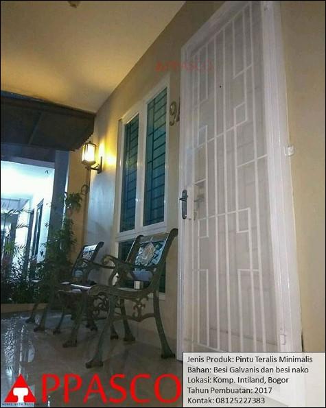 Pintu Teralis Besi Minimalis Bogor