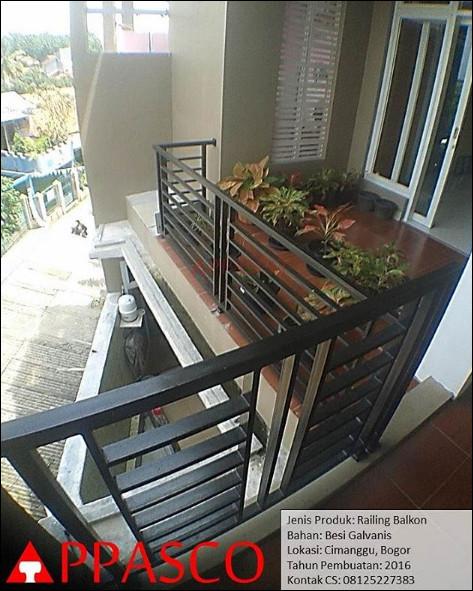 railing balkon minimalis cantik bogor