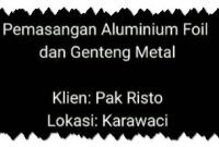 video pemasangan genteng metal