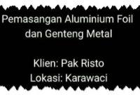 video pemasangan genteng metal