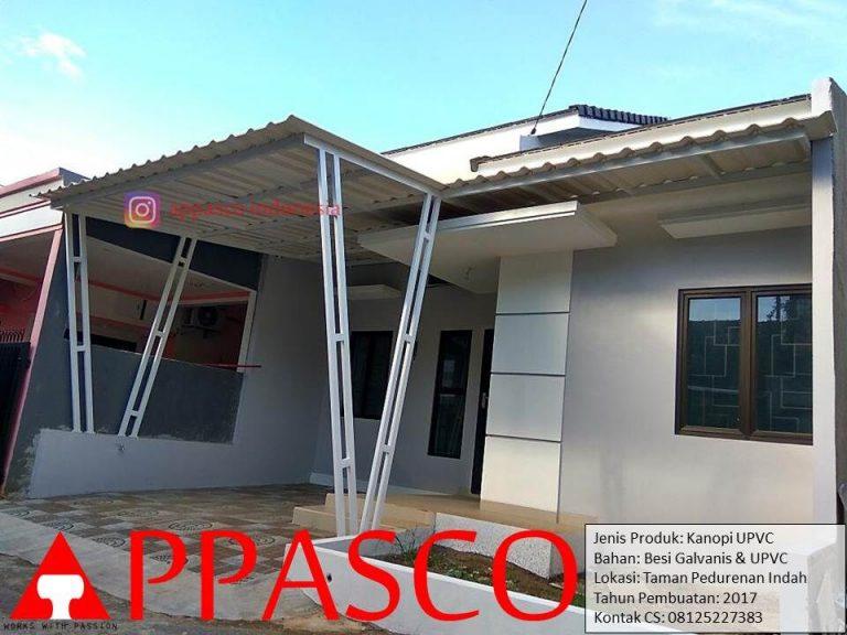 Kanopi UPVC Rumah Minimalis di Taman Pedurenan Indah Jati Asih Bekasi