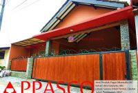 pagar rumah manis motif kayu grc