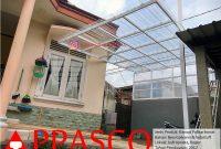 kanopi minimalis atap transparan