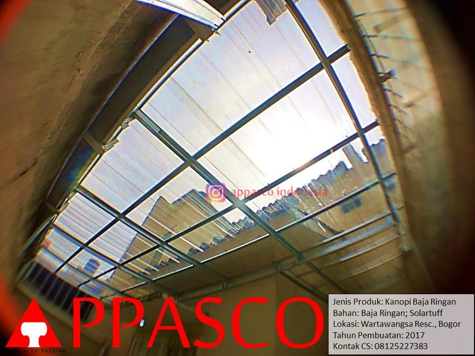 kanopi transparan atap belakang