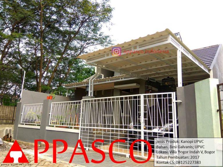Kanopi UPVC di Villa Bogor Indah