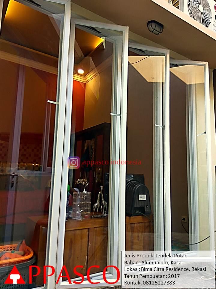 Jendela Putar Aluminium dan Kaca di Bima Citra Residence Bekasi