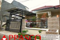 Kanopi Minimalis Spandek dan Pagar Minimalis di Taman Yasmin Sektor VI Bogor