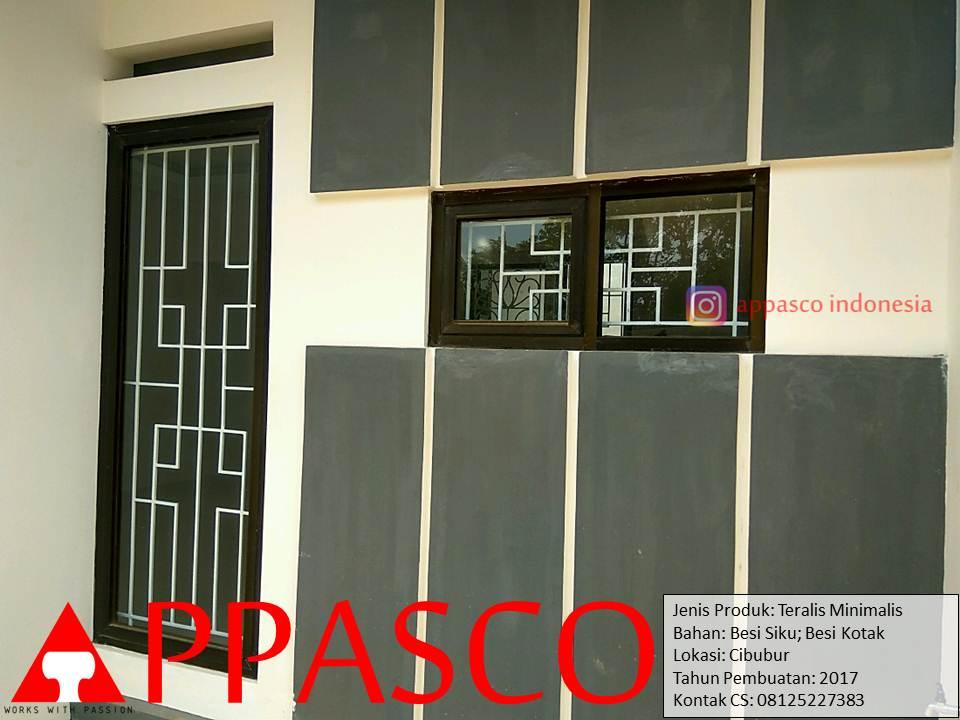 Teralis Jendela Minimalis Besi Kotak di Cibubur