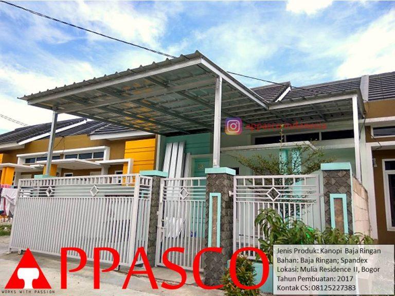 Kanopi Baja Ringan Spandek Model Minimalis di Bogor