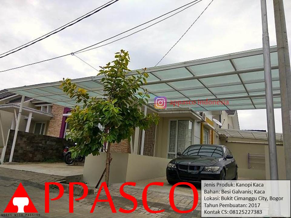Kanopi Kaca Carport di Cimanggu City
