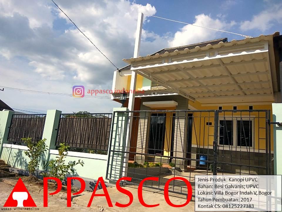 Kanopi Minimalis UPVC di Villa Bogor Indah