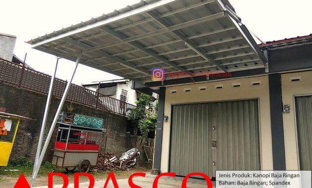 Kanopi Bajaringan Atap Spandek untuk Halaman Depan Toko di Cimanggu