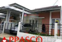 Kanopi Minimalis Galvanis Tiang dengan Atap Spandek Kombinasi Transparan di Nusa Indah Bogor