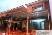 Kanopi Minimalis Modern Terbaru Atap Alderon Besi Galvanis di Bekasi