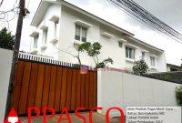 Pagar Gerbang Dorong Motif Kayu GRC Rumah Mewah di Pondok Indah