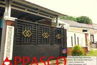 Pagar Rumah Dorong Model Minimalis Besi Galvanis Plat Esser di Ciampea Asri Bogor
