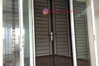 Pintu Teralis Minimalis Model Garis Horizontal di Cibubur