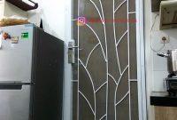 Pintu Teralis Minimalis Motif Daun di Pondok Indah