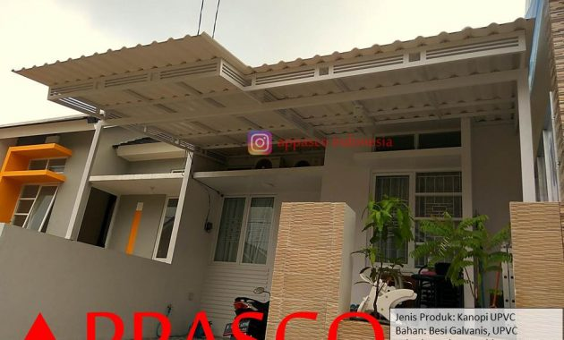 Kanopi Cantik Minimalis Atap UPVC di Cendana Residence Serua
