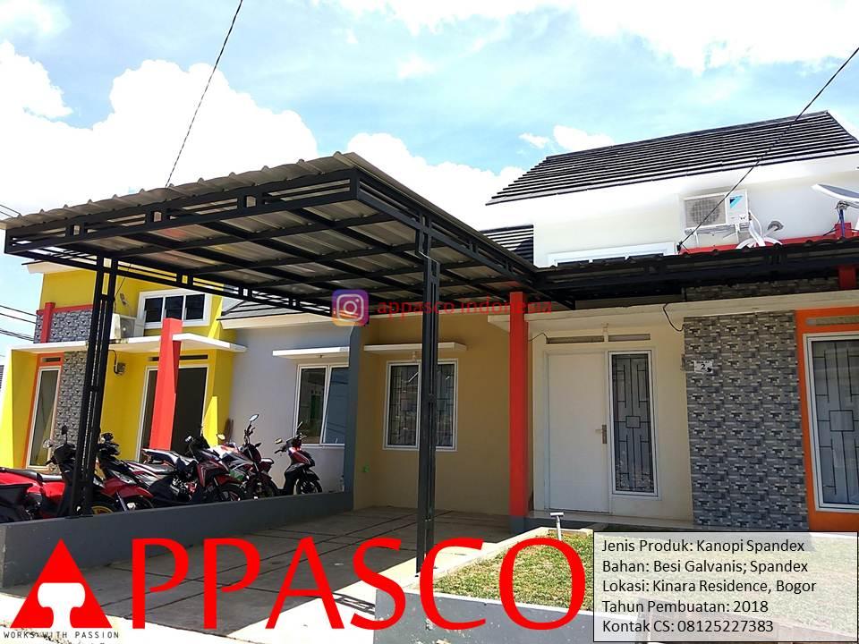 Kanopi Minimalis Galvanis Atap Spandek di Kinara Residence Bogor