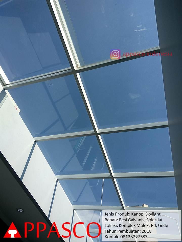 Kanopi Skylight Transparan untuk Halaman Belakang Rumah di Pondok Gede