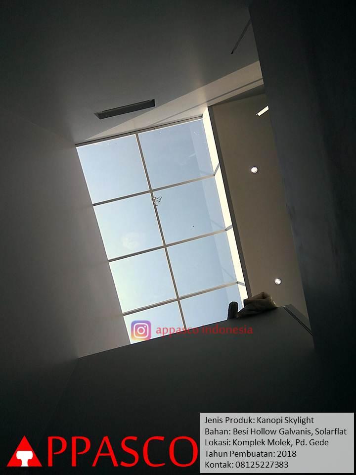Kanopi Skylight untuk Rumah Belakang di Pondok Gede