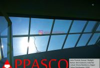 Kanopi Transparan Skylight Solarflat Tiang Galvanis di Kinara Residence Bogor