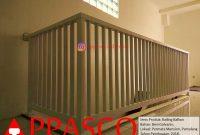 Railing Balkon Minimalis Putih di Permata Mansion Pamulang