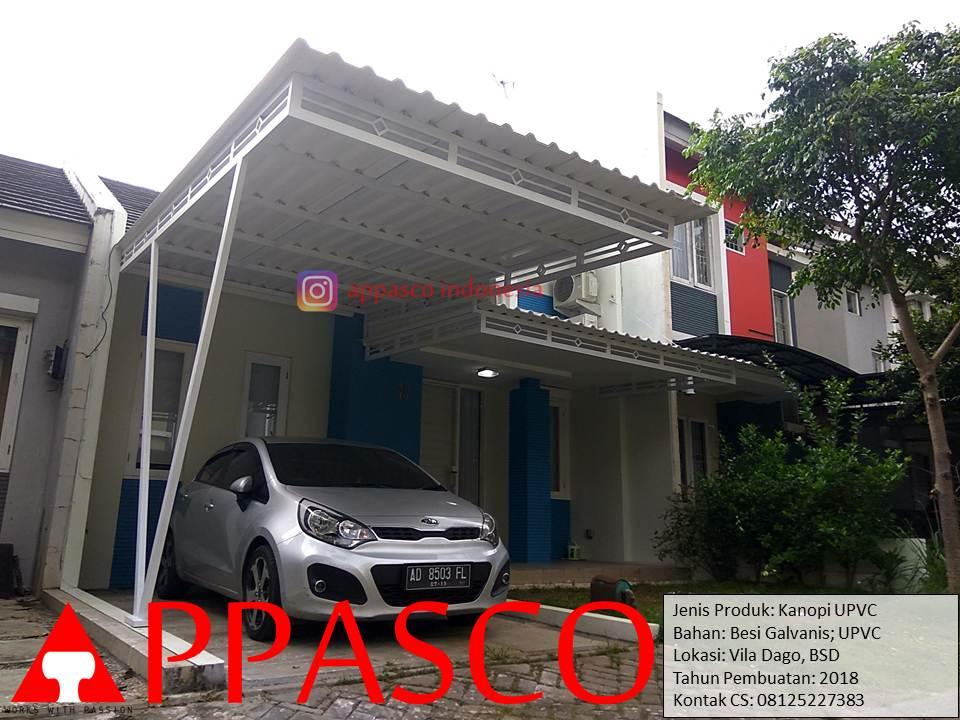 Kanopi Atap UPVC di Villa Dago BSD