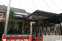 Kanopi Spandek GRC Minimalis di Villa Bogor Indah