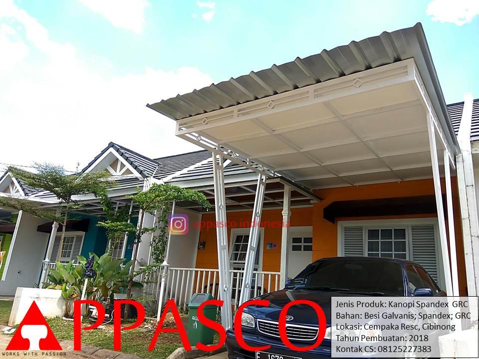 Kanopi Spandek GRC di Cempaka Residence Cibinong