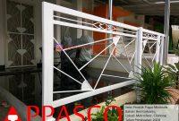 Pagar Minimalis Besi Galvanis Motif Unik Modern Untuk Teras di Metro Residence Bogor