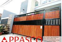 Pagar Motif Kayu GRC Galvanis di Jl Swasembada Tanjung Priok