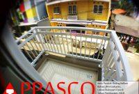 Railing Balkon Besi Galvanis Teras Atas di Kukusan Depok