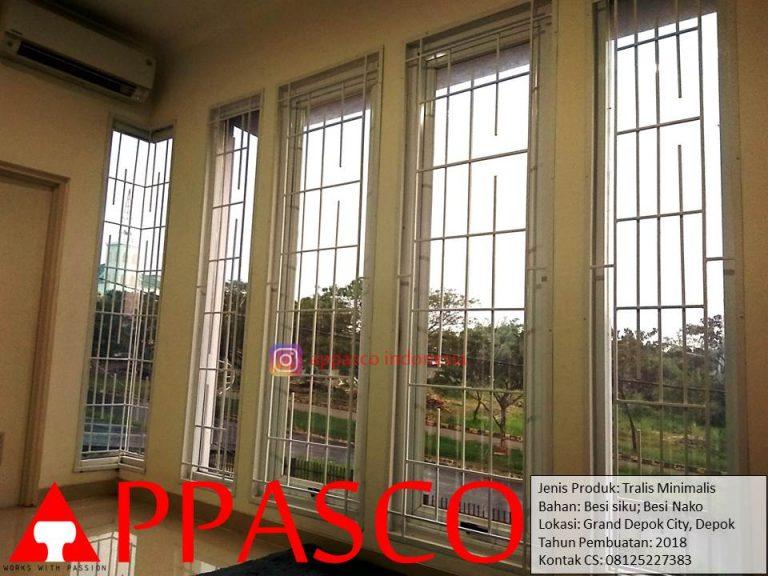 Teralis Jendela Minimalis Besi Siku Kotak di Grand Depok City