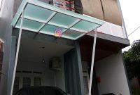 Kanopi Kaca Tempered Glass Besi Galvanis di Sinbad Residence Bogor