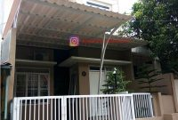 Kanopi Minimalis Atap UPVC Besi Galvanis di Taman Yasmin Bogor