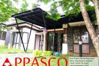 Kanopi Minimalis Bajaringan Atap Onduline di Sentul City Bogor