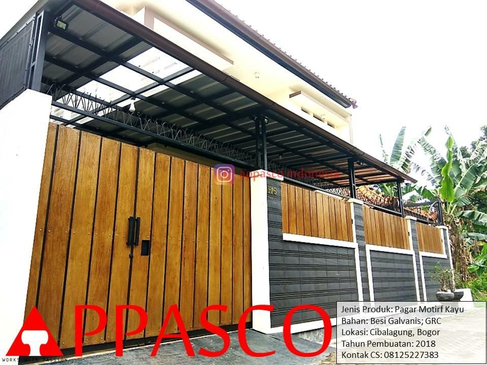 Pagara Minimalis Motif Kayu Di Cibalagung Bogor1189446537 Jpg